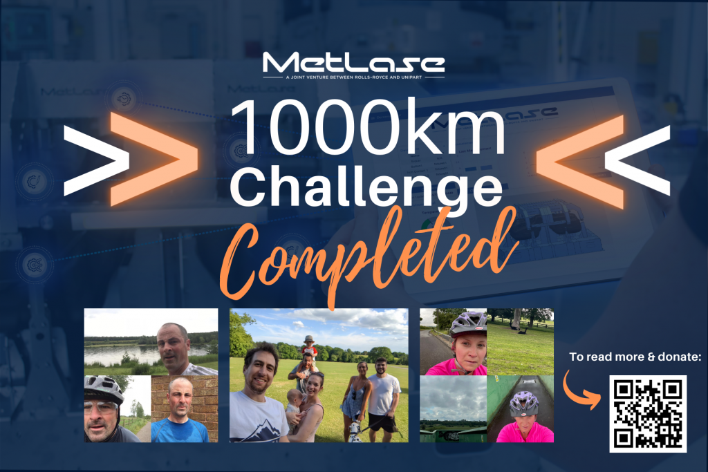 The MetLase Team ran, walked and cycled a total of 1745.2km.